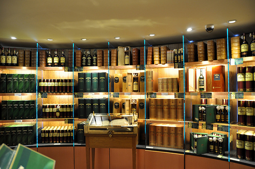 An assortment of Irish whiskey brands